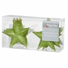Decoración Árbol Navidad Paquete De 6 100mm Inastillable Glitter Stars -
