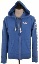 HOLLISTER Mens Hoodie Sweater Small Blue Cotton  LQ09