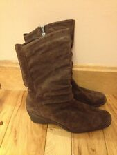 St. John's Bay  Size 9 M Brown Leather Suede Boots New