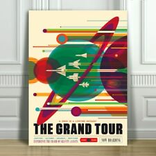 """COOL NASA TRAVEL CANVAS ART PRINT POSTER - The Grand Tour - Space Travel -12x8"""""""