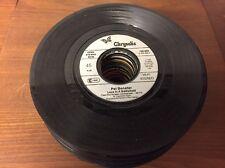 """50 kleine Schallplatten Vinyl 7"""" zum Basteln Deko Partykeller"""