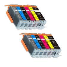 12 PK Printer Ink Set + chip fits Canon PGI-250 CLI-251 XL MG6320 iP8720 MG7520