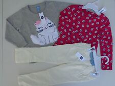 NEW Lot Toddler Girls SZ 3T 3 Years Baby Gap Sweater Pants Old Navy Tee T-shirt