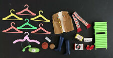Barbie Sized Clothes & Hangers, Dollhouse Miniature Stereo, Radio, Phone, Lounge