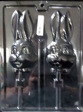 Easter Large Bunny Face w/Bowtie Pop Chocolate Plastic Candy Soap Mold LOP E-43