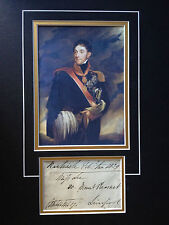 VISCOUNT COMBERMERE - ARMY FIELD MARSHAL - PENINSULA WAR - SIGNED PHOTO DISPLAY