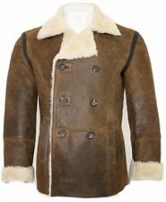 Leather Button Coats & Jackets for Men Peacoat