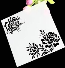 Chic Peony Flower Layering Stencil Template DIY Scrapbooking Home Bar Decor A