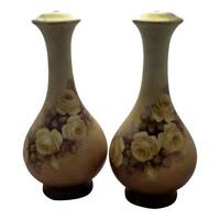 Antique Limoges Lamp Bases - A Beautiful Pair