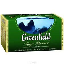 Magic Yunnan Greenfield black tea 25 packs x 2 gr Premium Product 3 pieces