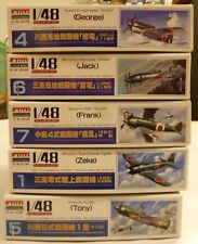 1/48 Scale WWII Japanese Fighter Aircraft Model Kits (5) Lot New