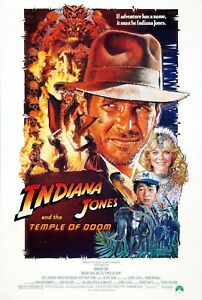 Movie Posters - Indiana Jones and the Temple of Doom - 1984 - 4 Sizes - NEW