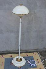 Vintage Modernist Enamel Brass Floor Lamp White Cream Unique design lamp