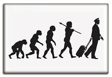 EVOLUTION OF THE PILOT, Aviation Themed Fridge Magnet by Luso Aviation