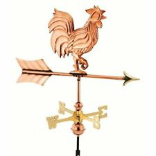 Good Directions Rooster Garden Weathervane Polished Copper w/ Garden Pole 802PG