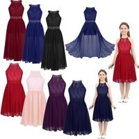 Kids Girls Long Formal Prom Dress Cocktail Party Ball Gown Bridesmaid Dresses
