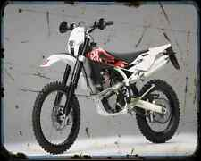 Husqvarna Te 310 10 A4 Metal Sign Motorbike Vintage Aged