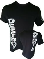 Iron Gods Destroy/Rebuild Muscle T-Shirt Workout Bodybuilding Strong Gym Gear