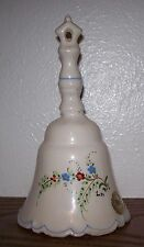 Pier 1 - 1984 Signed Lovely Vintage Hand Painted Floral Ceramic Bell Spain