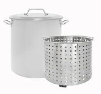 CONCORD Stainless Steel Stock Pot w/ Steamer Basket Cookware Boiling Steaming
