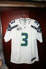 NIKE SUPER BOWL RUSSELL WILSON # 3 Seattle Seahawks YOUTH BOYS JERSEY XL / 18-20