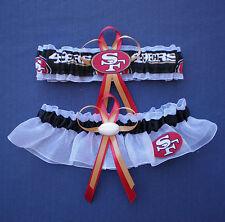 San Francisco 49ers Plus Size Wedding Bridal Garter Set football charm  prom