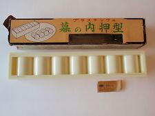 Vintage Japanese Sushi Making Rice Form Rolls Press 7 Mold Retro Asian MIB Tubes