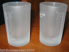 Jagermeister Frosted Shot Glasses Liquor Set Of 2 Jagermeifter Bar 1 oz Pub LOT!