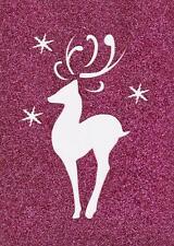 Stencil Christmas Winter Reindeer Snowflakes Whimsical Swirls Snowflakes