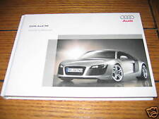 2009 AUDI R8 OWNERS MANUAL OWNER'S R 8 NEW V8 420HP