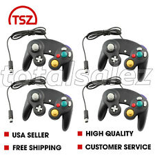 4 For Nintendo Game Cube Black Controller Joy Stick Pad Remote Video System