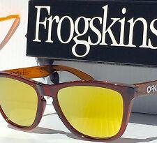 NEW* Oakley Frogskins Root Beer MOTO NITROUS w 24k Fire Iridium Sunglass 9013-38