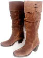 Via Spiga Womens Western Suede Tall Boots Size 6 M Brown Pull On Square Toe