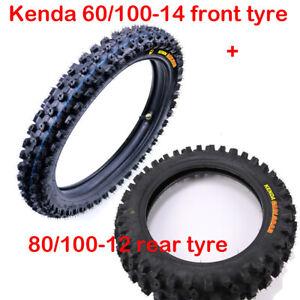 Kenda Front 60/100-14 + Rear 80/100-12 Tire Tube Dirt Pit Bike 110 125cc Taotao