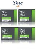 Dove Men Care Extra Fresh Soap Moisturising cream Body & Face Bar 4x 90 g