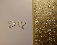 Stickerbogen, Tauben, Hochzeit, Konfirmation, Kommunion, Gold Nr. 130