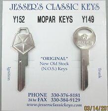 MOPAR NOS Original Keys  PLYMOUTH 1971 1972 1973 1974 1975 1976 1977 1978 1979