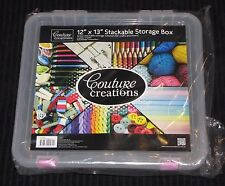 """Couture Creations 'Stackable Storage Box' 12""""x13"""" Scrapbooking/Card Making New"""