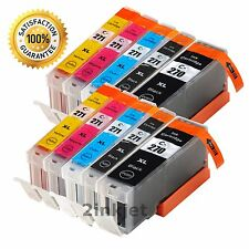 10 PK PGI-270XL CLI-271XL Ink Cartridges for Canon PIXMA TS5020 TS6020 TS8020