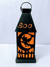 Witch Flying over Moon B/O Color Changing Lighted Lantern 11 inch