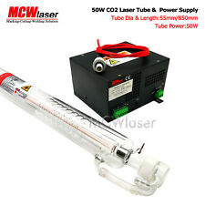 MCWlaser 50W CO2 Laser Tube 85cm & Power Supply Air Express & Insurance