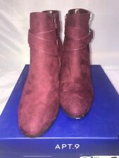 b316cb496e3815 Women s Apt. 9 Advisor Ankle BOOTS Deep Red Size 10