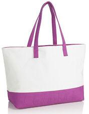 Calvin Klein Euphoria Magenta(Pink)/Cream(White) Tote Shopper Beach Hand Bag