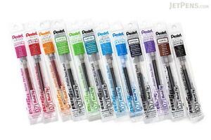 Pentel Energel  Refill 0.7mm 12 colors set  Metal Tip  Japan total 12 refills