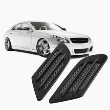 Car Side Air Flow Vent Hole Cover Fender Intake Grille Decoration Sticker OW