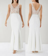 COAST Kim Embroidered Lace Maxi Dress in Ivory RRP £179 NEW