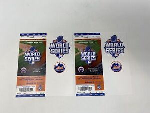 2015 World Series KC Royals Vs NY Mets Full Ticket Game #5 Championship Clincher