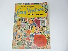 Vintage Stanley Gibbons  GAY VENTURE STAMP ALBUM  with Approx 250 STAMPS