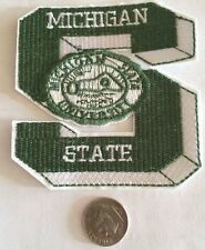 "Msu Michigan State Spartans Vintage Embroidered Iron On Patch 3"" x 3"""