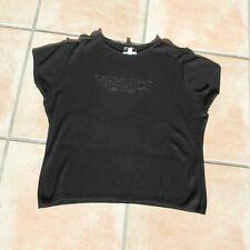 VERSACE Shirt schwarz w.new. Logo L 38/40 aktuell Made in Italy Viskose